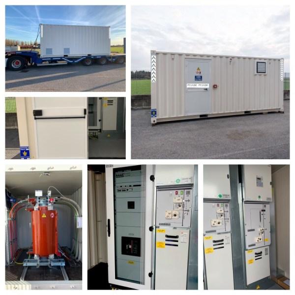 cabina in container trasformatore quadro mt