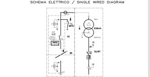 schema elettrico unifilare di cabina