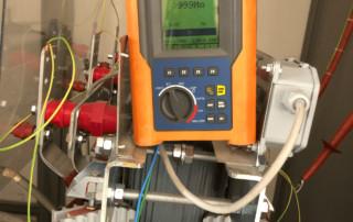 misure di test su trasformatore
